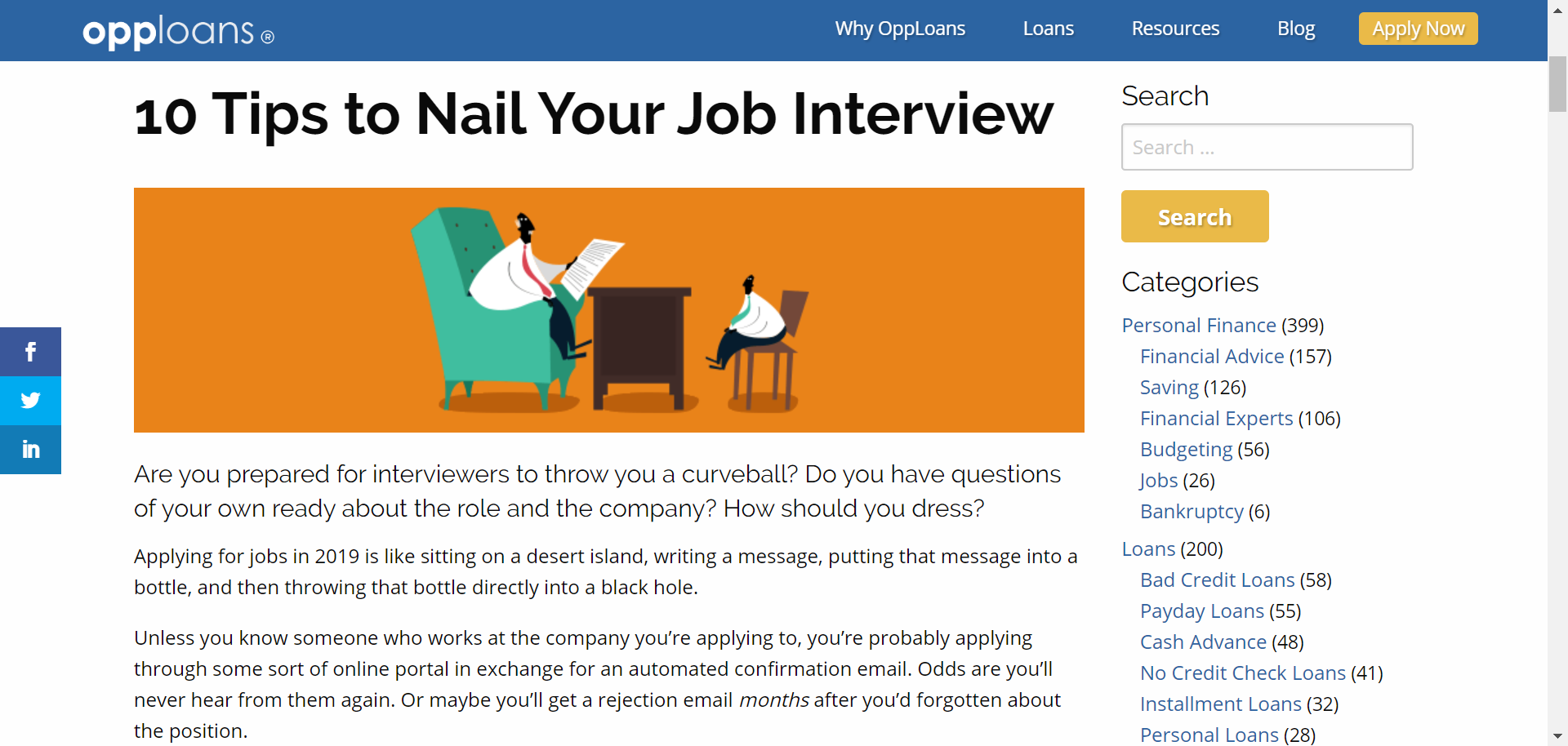 Susan comments on how to succeed in a job interview