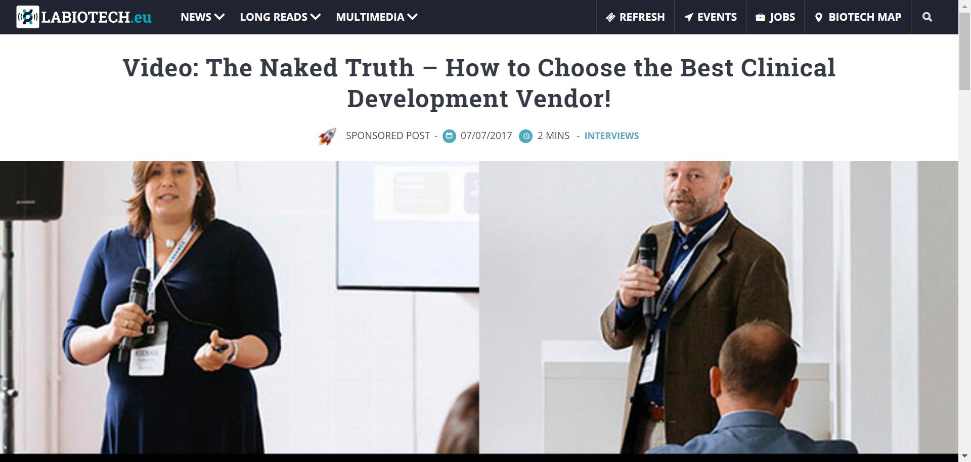Kieran speaks about vendor selection