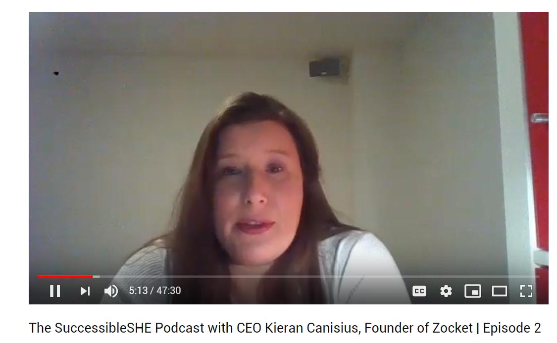 Kieran on SuccessibleSHE Podcast