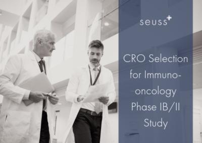 CRO Selection for Immuno-oncology Phase IB/II Study